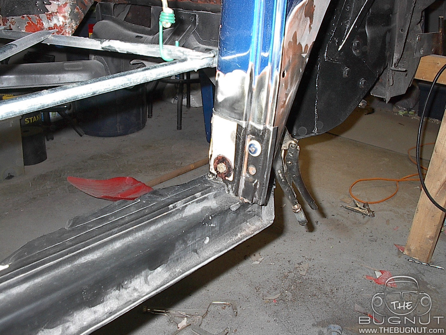1971 VW Super Beetle Lower Door Post - New Metal