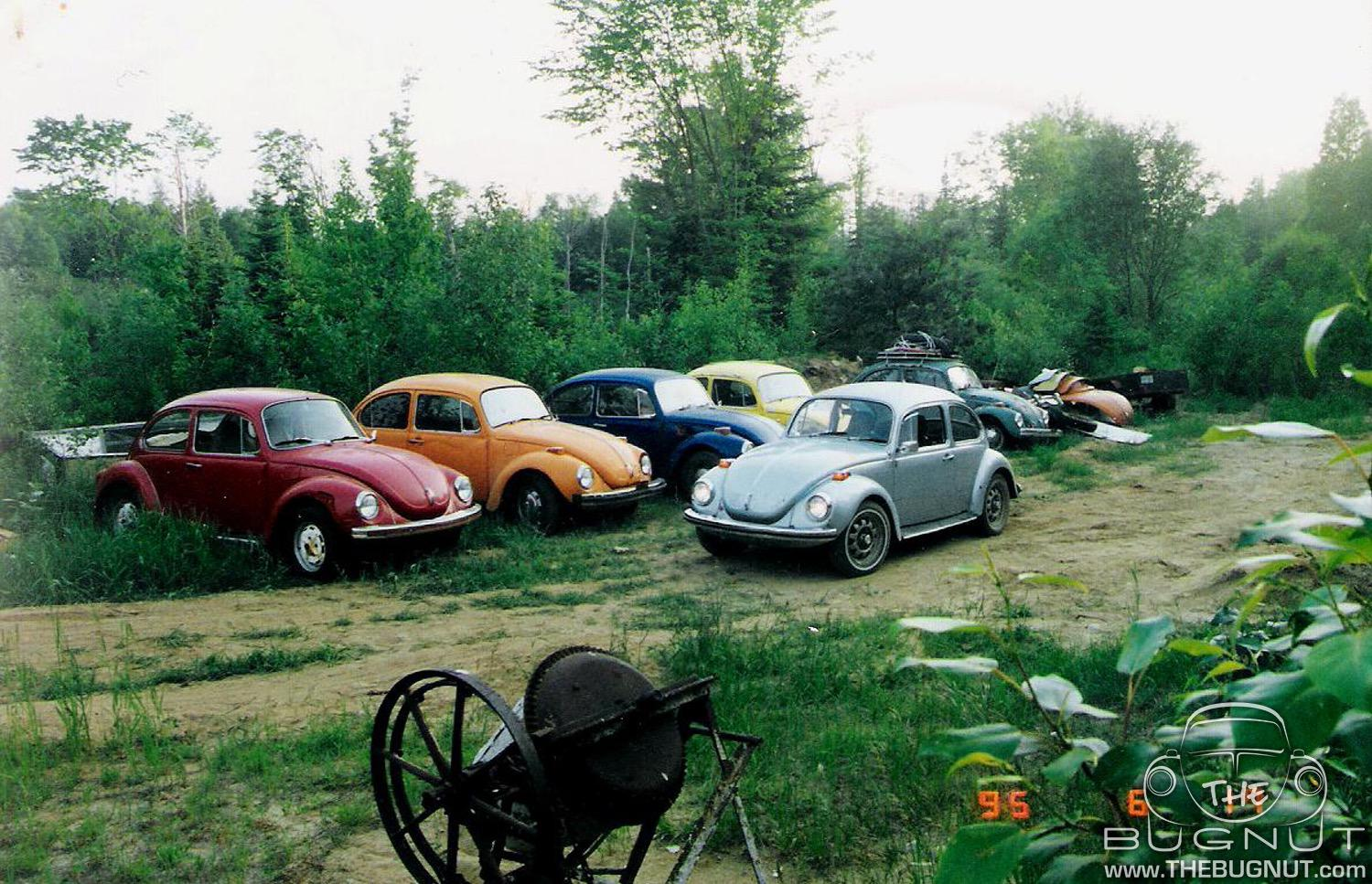 Classic Air-Cooled VW Beetles waiting to be restored