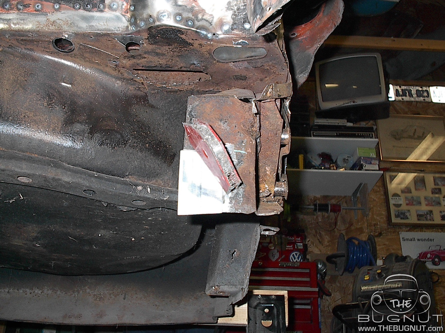 1971 Super Beetle Front Firewall Brace Repair
