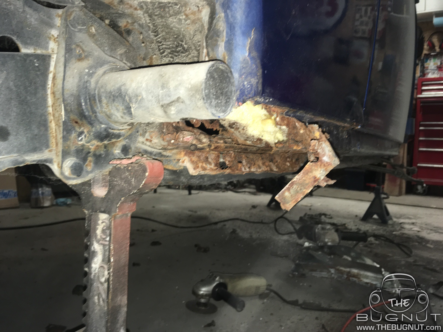 VW Super Beetle Rust Heater Channels