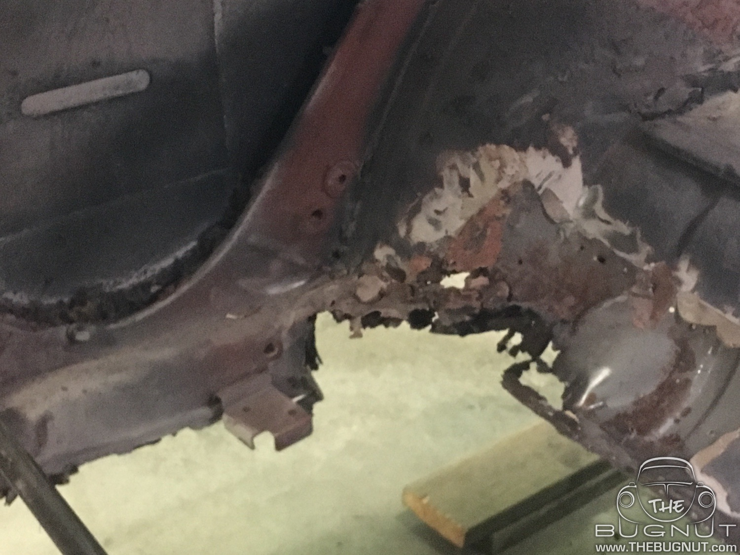 VW Beetle Rear Quarter Panel Repair - RUST