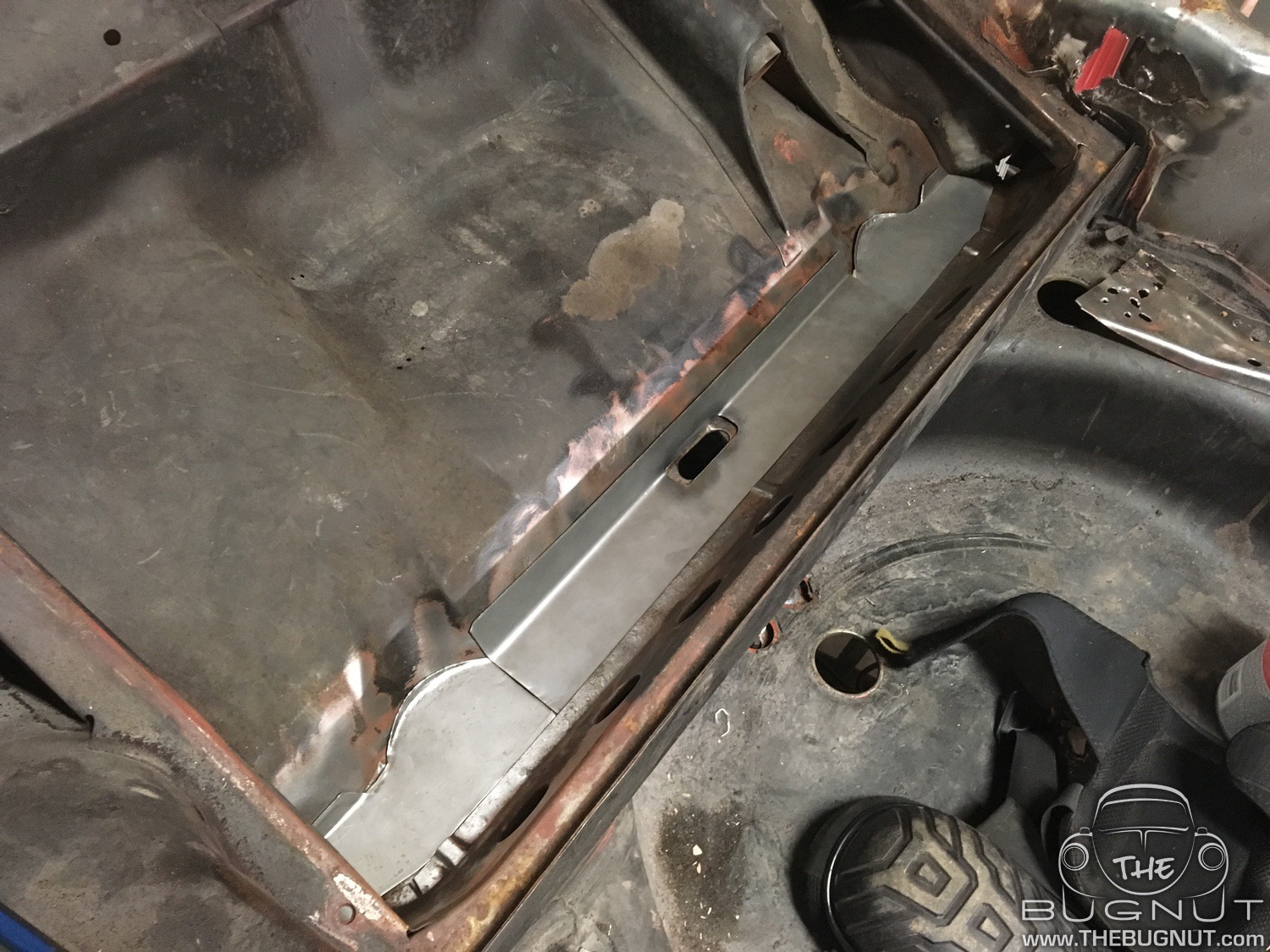 1971 Super Beetle Firewall and Gas Tank Repair